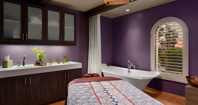 A treatment room at Spa Breeza inside the Hilton San Diego Resort