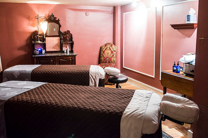 A treatment room at The Oxford Club, Spa & Salon in downtown Denver, Colorado