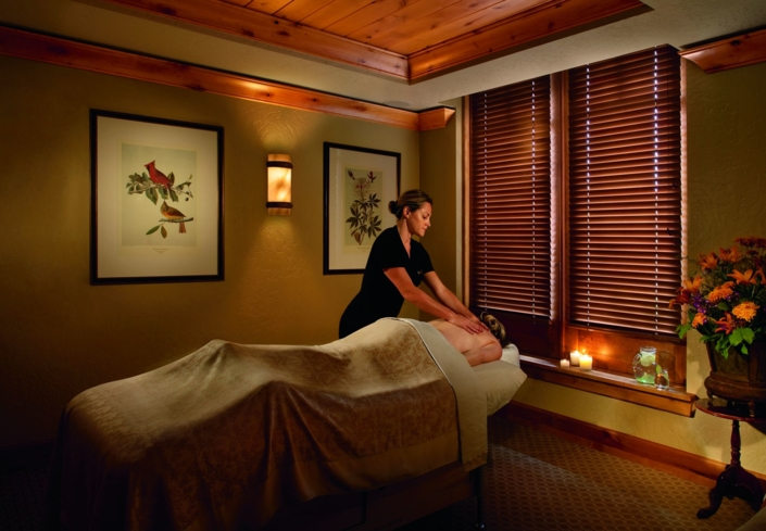 A treatment at The Ritz-Carlton, Bachelor Gulch Spa