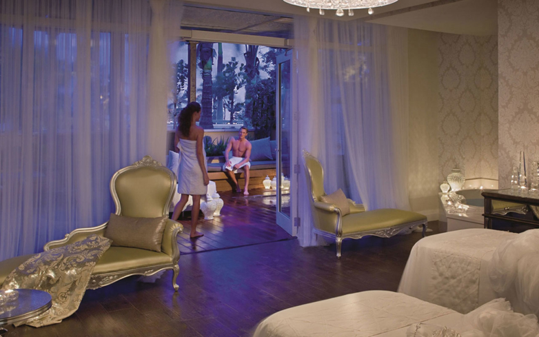Try the Turkish Rhassoul Mud Ritual at the spa inside Eau Palm Beach Resort & Spa