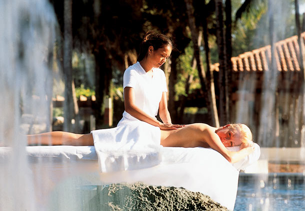 A massage at The Spa at Fort Lauderdale Marriott Harbor Beach