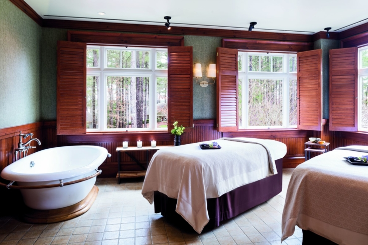 A treatment room at The Ritz-Carlton Reynolds, Lake Oconee Spa