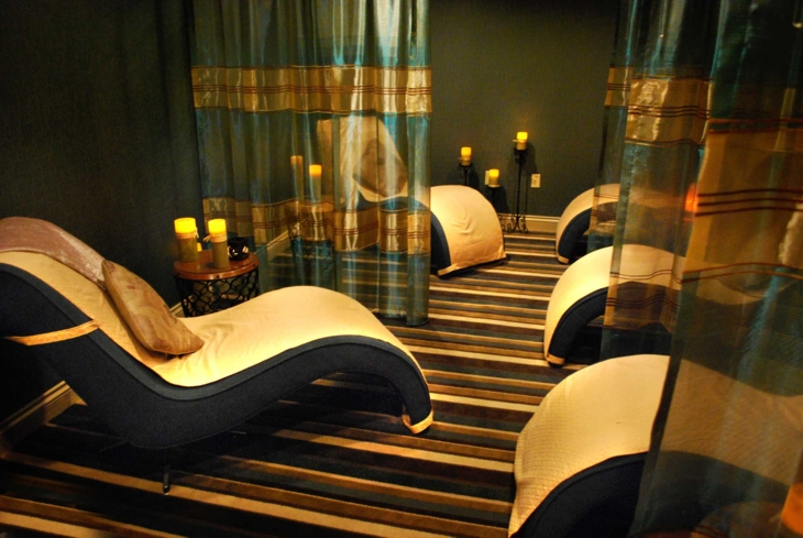 The relaxation room at Spa at Château Élan