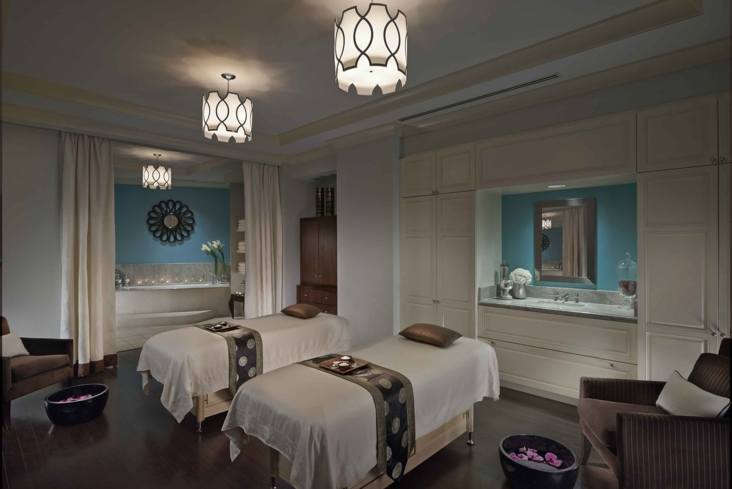 A double treatment room at The Spa at Mandarin Oriental, Atlanta