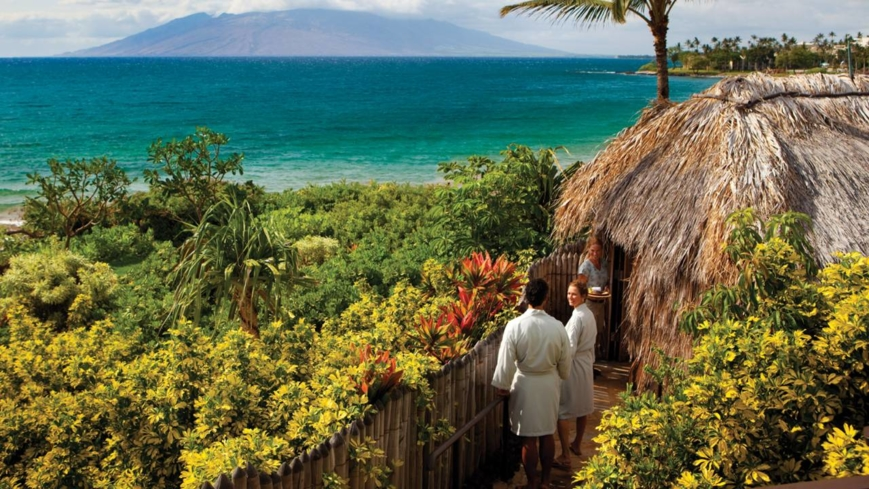 An oceanside hale at Spa at Four Seasons Resort Maui at Wailea