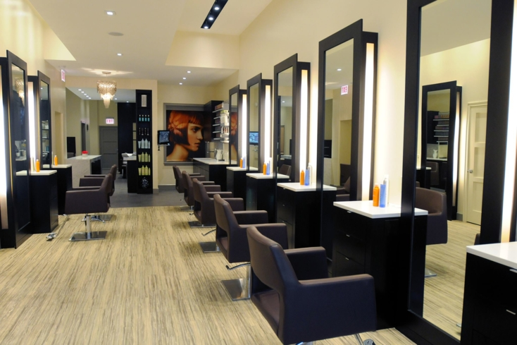 The hair salon at Exsalonce Salon & Day Spa
