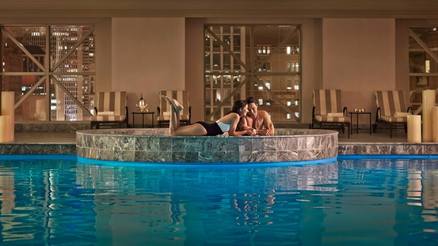 The indoor pool at Spa and Fitness Centre at Four Seasons Hotel Chicago