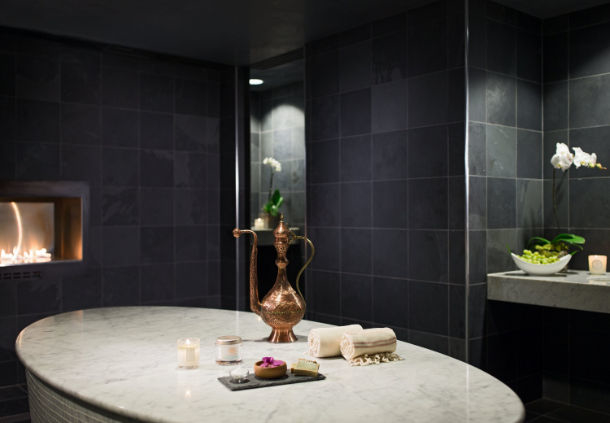 The hammam treatment space at the Spa at JW Chicago