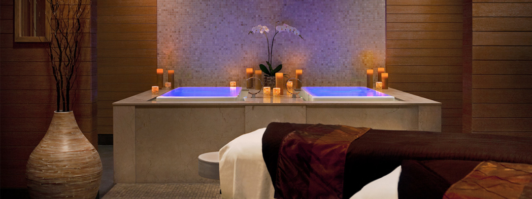 A treatment room at The Spa at Trump in Chicago