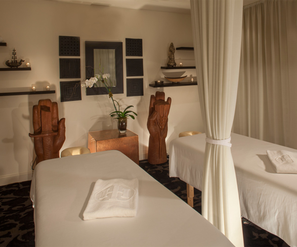 A treatment room at International House Spa in New Orleans, Louisiana