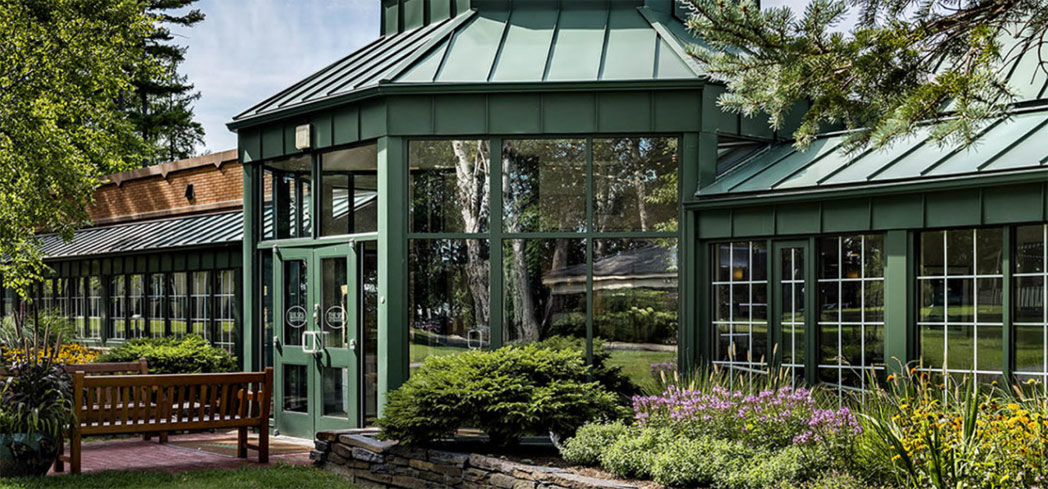 The exterior of The Spa at Cranwell in Lenox, Massachusetts