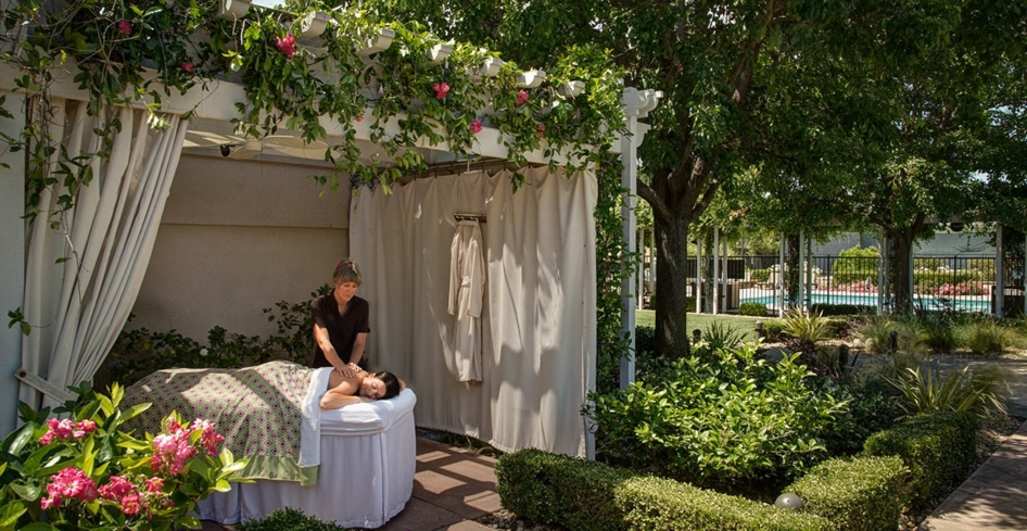 Enjoy your treatment outdoors at The Spa at Silverado
