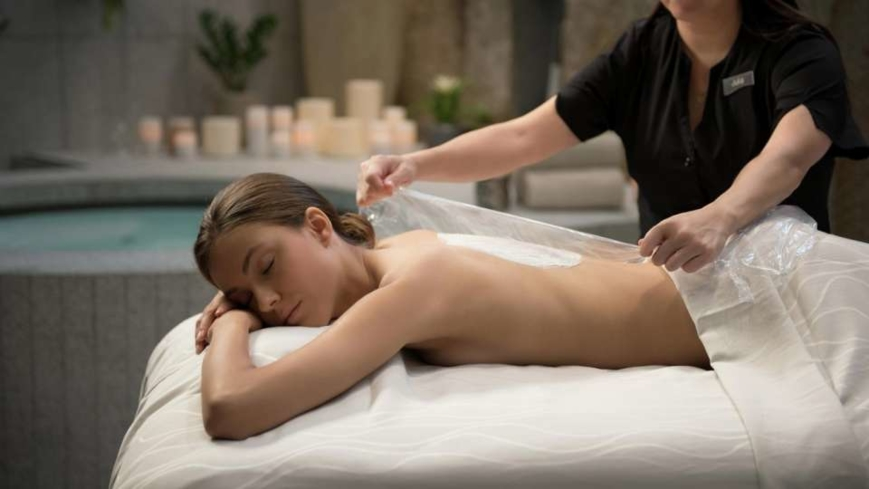 A treatment at The Spa at ARIA