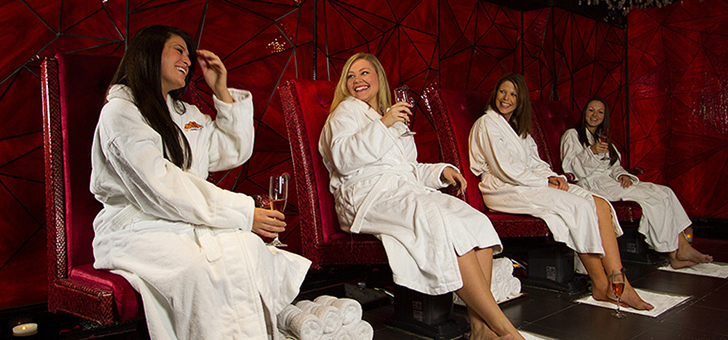 Book a private spa party at Reflections Spa at Grand Cascades Lodge