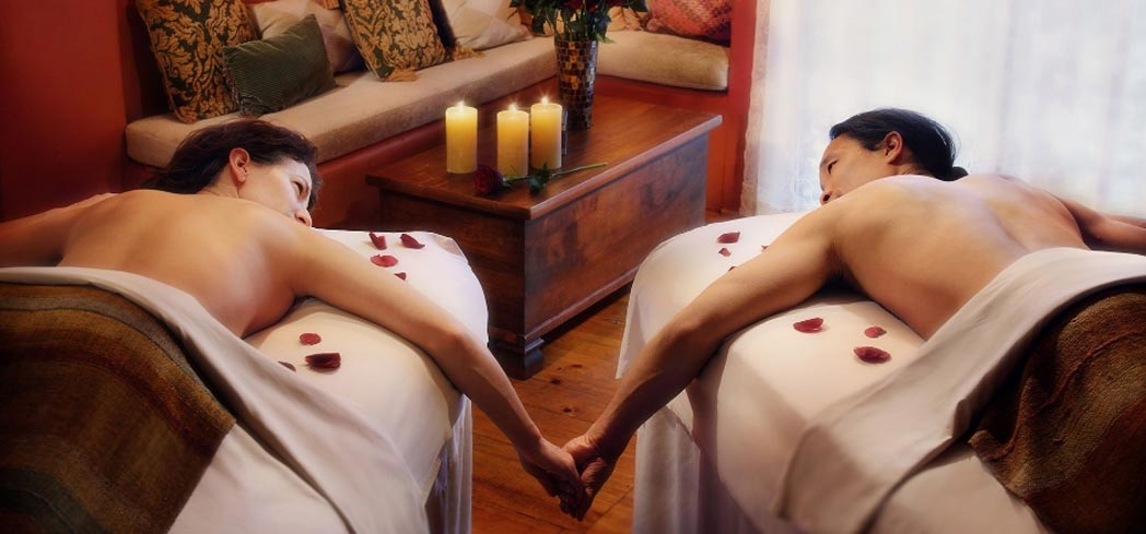 A couples treatment at The Spa at Loretto