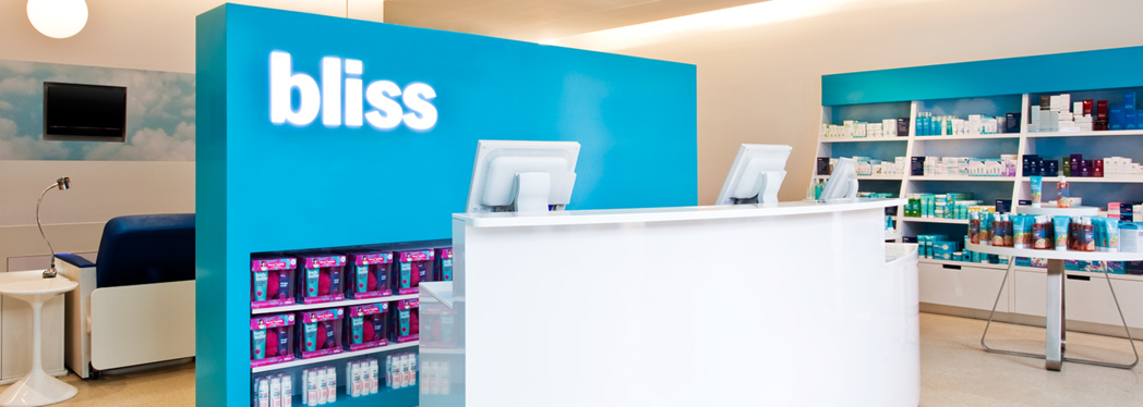 The reception desk at bliss 49 nyc