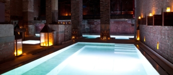 Dip into the salt bath at the Aire Ancient Baths in New York City