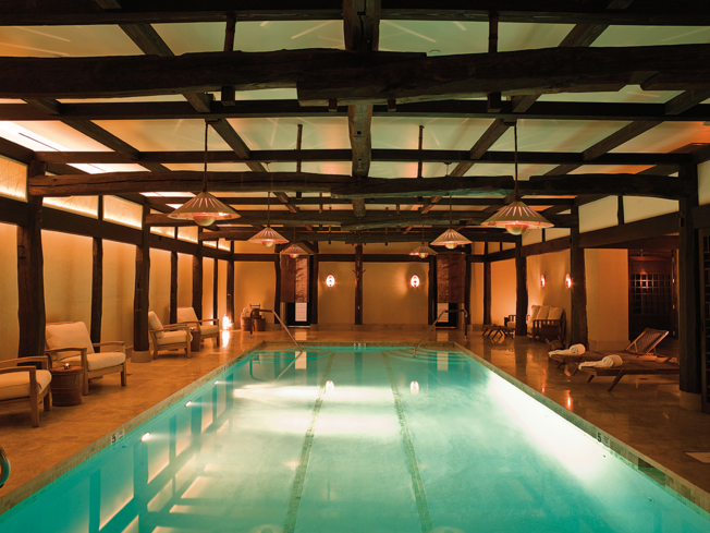 Dip into the jaw-dropping indoor pool at Shibui Spa, located inside Robert De Niro's Greenwich Hotel