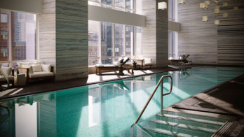 Enjoy breathtaking views of the city at Spa Nalai's indoor pool located on the 25th floor of the Park Hyatt New York