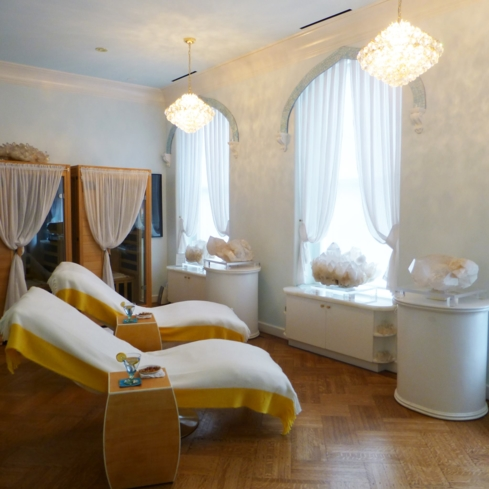 The Shanti Loka room at Sphatika Skincare & Spa in New York City