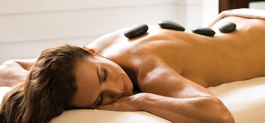 A hot stone massage at The Spa at Pinehurst