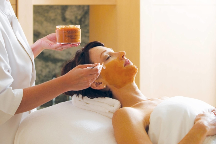 A seasonal facial treatment at The Spa at Island Hotel