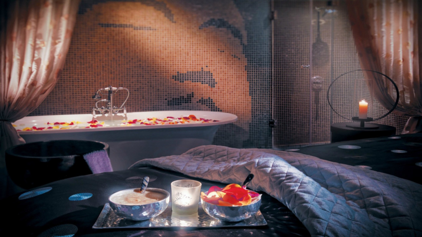 A treatment room at Azure Spa at the Riviera Palm Springs
