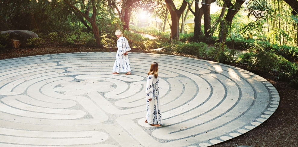 The labyrinth at Golden Door Spa