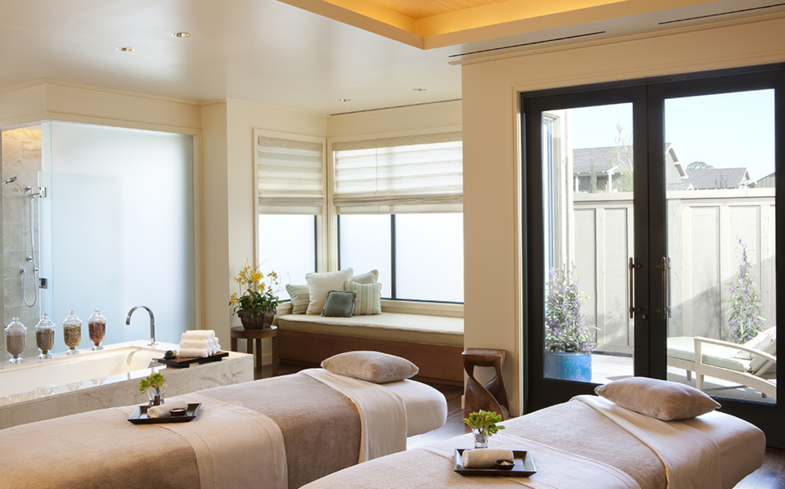 A couple treatment room at Sense Spa at Rosewood Sand Hill