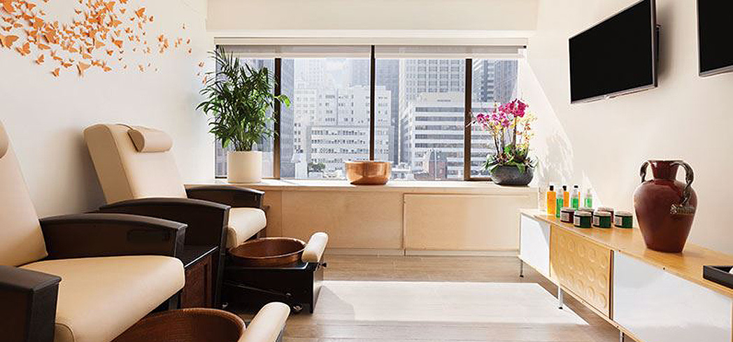 A treatment room at The Wellness Center Spa at the Hilton San Francisco Financial District