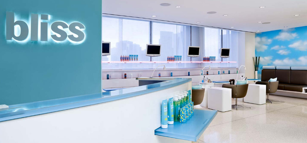 Inside the bliss Spa at the W Dallas - Victory hotel