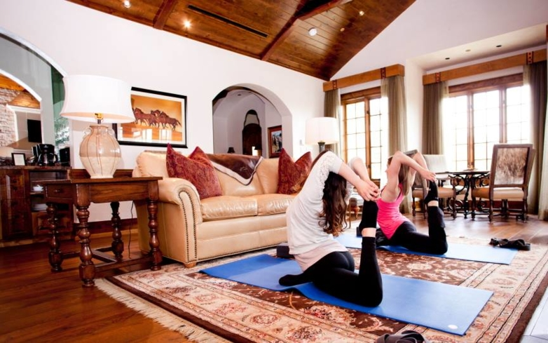 Have a yoga session in your guest room at The Inn at Dos Brisas