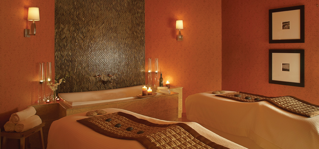 A treatment room at Mokara Spa at the Omni Houston Hotel