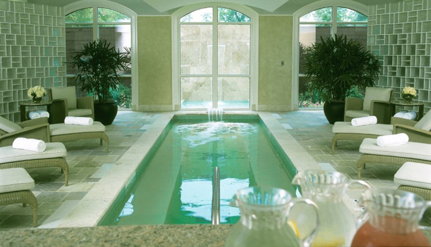 The indoor float pool at Trellis Spa at The Houstonian