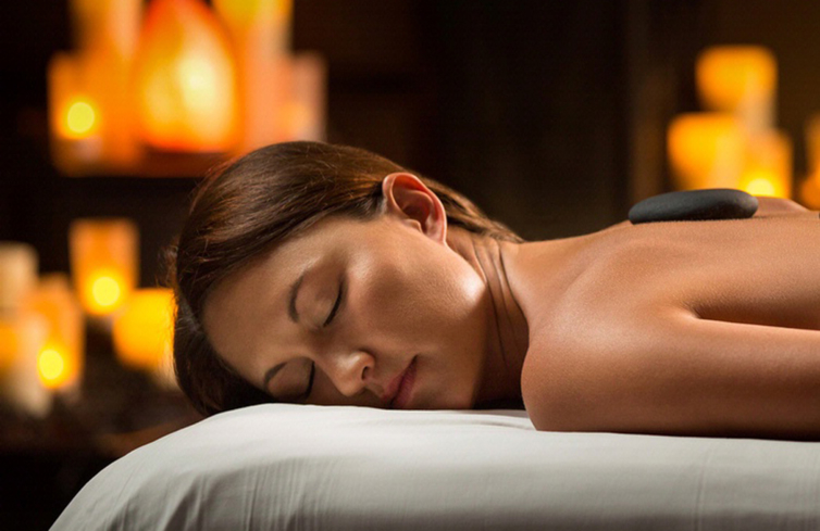 A hot stone massage at The Woodlands Resort Spa