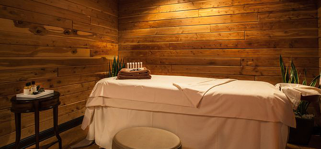 A treatment room at The Cliff Spa inside The Cliff Lodge