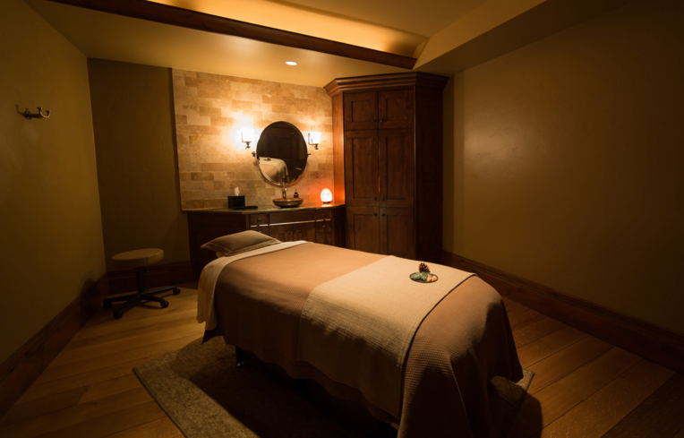 A treatment room at The Spa at Stein Eriksen Lodge