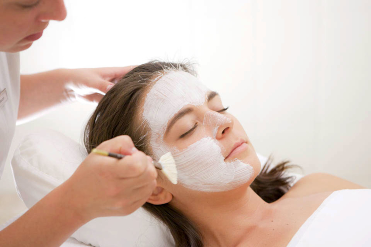A facial at The Topnotch Spa