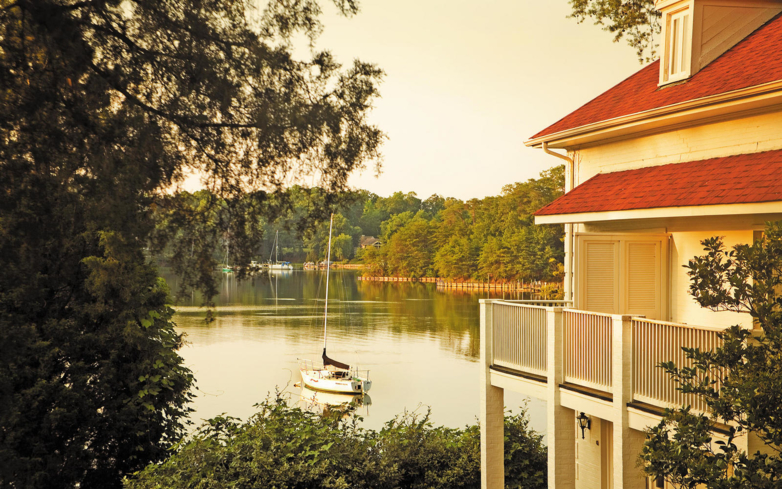 Enjoy waterfront views at Journey Spa at The Tides Inn
