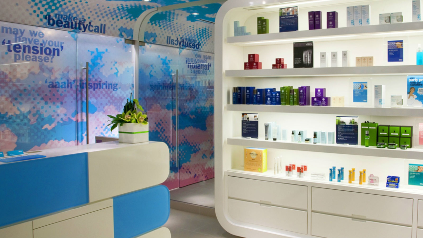 The retail boutique at Bliss Spa Washington D.C.