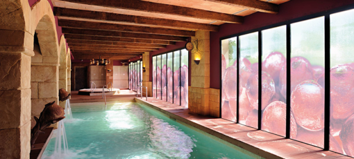 Hotel Peralada wine spa indoor pool