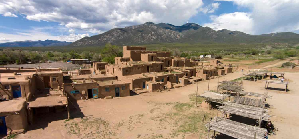 A pueblo in Taos, New Mexico.