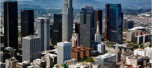 A view of downtown Los Angeles